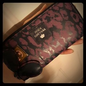 NWT Juicy Couture Purple Cheetah Zip Wallet rare